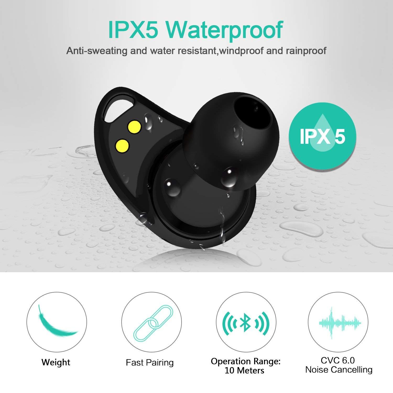 Des écouteurs Bluetooth protégés contre l'eau