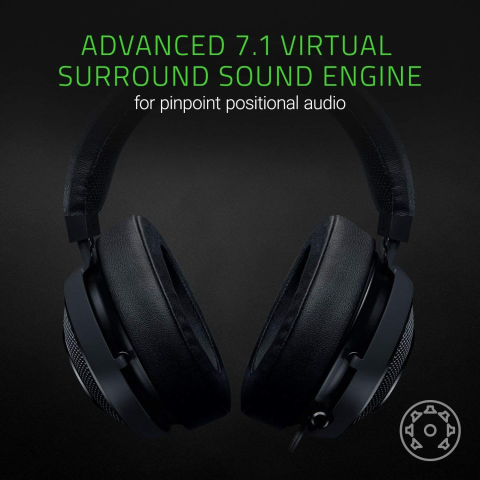 Un casque disposant de la technologie Surround 7.1
