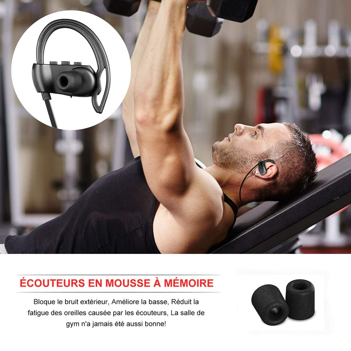 Les écouteurs Bluetooth sport Yobola